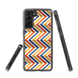 Samsung Galaxy S21+ Plus Protective Case, Clear Acrylic Back Cover, Left To Right Colourful ZigZag   iCoverLover.com.au   Phone Cases