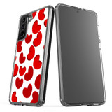 Samsung Galaxy S21 Ultra/S21+ Plus/S21 Protective Case, Clear Acrylic Back Cover, Hearts | iCoverLover.com.au | Phone Cases