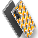Samsung Galaxy S21 Ultra/S21+ Plus/S21 Flexi Case, Clear Protective Soft Back Cover, ZigZag Yellow   iCoverLover.com.au   Phone Cases