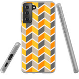 Samsung Galaxy S21+ Plus Flexi Case, Clear Protective Soft Back Cover, ZigZag Yellow   iCoverLover.com.au   Phone Cases