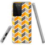Samsung Galaxy S21 Ultra Flexi Case, Clear Protective Soft Back Cover, ZigZag Yellow   iCoverLover.com.au   Phone Cases