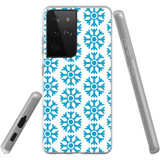 Samsung Galaxy S21 Ultra Flexi Case, Clear Protective Soft Back Cover, Blue Snowflakes | iCoverLover.com.au | Phone Cases
