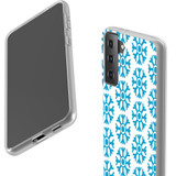 Samsung Galaxy S21 Ultra/S21+ Plus/S21 Flexi Case, Clear Protective Soft Back Cover, Blue Snowflakes | iCoverLover.com.au | Phone Cases