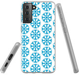 Samsung Galaxy S21+ Plus Flexi Case, Clear Protective Soft Back Cover, Blue Snowflakes | iCoverLover.com.au | Phone Cases
