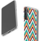 Samsung Galaxy S21 Ultra/S21+ Plus/S21 Flexi Case, Clear Protective Soft Back Cover, ZigZag Rainbow | iCoverLover.com.au | Phone Cases