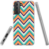 Samsung Galaxy S21+ Plus Flexi Case, Clear Protective Soft Back Cover, ZigZag Rainbow | iCoverLover.com.au | Phone Cases