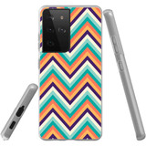 Samsung Galaxy S21 Ultra Flexi Case, Clear Protective Soft Back Cover, ZigZag Rainbow | iCoverLover.com.au | Phone Cases