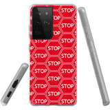 Samsung Galaxy S21 Ultra Flexi Case, Clear Protective Soft Back Cover, Stop Signs | iCoverLover.com.au | Phone Cases