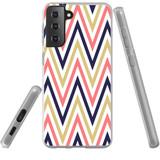 Samsung Galaxy S21+ Plus Flexi Case, Clear Protective Soft Back Cover, ZigZag Salmon Purple | iCoverLover.com.au | Phone Cases