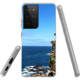 Samsung Galaxy S21 Ultra Flexi Case, Clear Protective Soft Back Cover, Ocean Cliffs | iCoverLover.com.au | Phone Cases