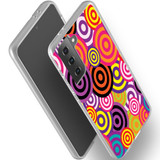 Samsung Galaxy S21 Ultra/S21+ Plus/S21 Flexi Case, Clear Protective Soft Back Cover, Colourful Retro Circles   iCoverLover.com.au   Phone Cases