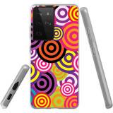 Samsung Galaxy S21 Ultra Flexi Case, Clear Protective Soft Back Cover, Colourful Retro Circles   iCoverLover.com.au   Phone Cases