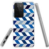 Samsung Galaxy S21 Ultra Flexi Case, Clear Protective Soft Back Cover, Chevron ZigZag Chevron | iCoverLover.com.au | Phone Cases