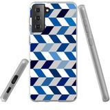 Samsung Galaxy S21+ Plus Flexi Case, Clear Protective Soft Back Cover, Chevron ZigZag Chevron | iCoverLover.com.au | Phone Cases