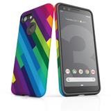 Google Pixel 3 Case Armour Protective Cover Rainbow