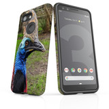 Google Pixel 3 Case Armour Protective Cover Cassowary