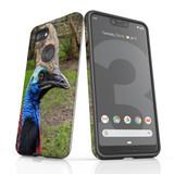 Google Pixel 3 XL Case Armour Protective Cover Cassowary