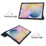 Samsung Galaxy Tab S7+ Plus (2020) Case, Folio PU Leather Cover, Sleep/Wake-up Function, 3-Fold Stand | icoverlover.com.au | Tablet Cases