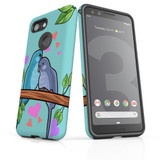 For Google Pixel 3 Case Armour Protective Cover Birds in Love
