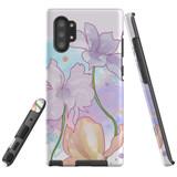 Protective Samsung Galaxy Note Series Case, Tough Back Cover, Floral Watercolour | iCoverLover Australia