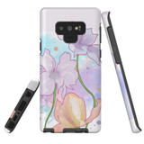 For Samsung Galaxy Note 9 Case Tough Protective Cover Watercolor Floral