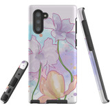 For Samsung Galaxy Note 10 Case Tough Protective Cover Watercolor Floral