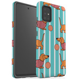 Protective Samsung Galaxy A Series Case, Tough Back Cover, Playful Dachshund | iCoverLover Australia