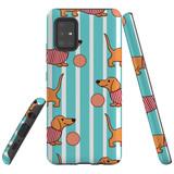 For  Samsung Galaxy A51 5G Case Tough Protective Cover Dachshund Cute