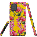 For Samsung Galaxy A71 5G Case Tough Protective Cover Flower Pattern