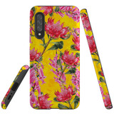 For Samsung Galaxy A90 5G Case Tough Protective Cover Flower Pattern