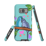 For Samsung Galaxy S8 Plus Case Tough Protective Cover Birds In Love