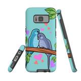 For Samsung Galaxy S8 Case Tough Protective Cover Birds In Love
