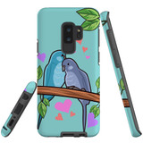 For Samsung Galaxy S9+ Plus Case Tough Protective Cover Birds In Love