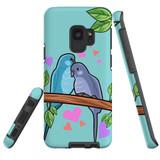 For Samsung Galaxy S9 Case Tough Protective Cover Birds In Love