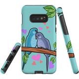 For Samsung Galaxy S10e Case Tough Protective Cover Birds In Love
