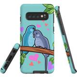 For Samsung Galaxy S10 Case Tough Protective Cover Birds In Love