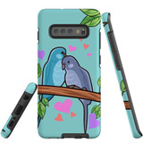 For Samsung Galaxy S10+ Plus Case Tough Protective Cover Birds In Love