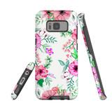 For Samsung Galaxy S8 Plus Case Tough Protective Cover Floral Garden
