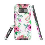 For Samsung Galaxy S8 Case Tough Protective Cover Floral Garden