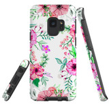 For Samsung Galaxy S9 Case Tough Protective Cover Floral Garden