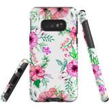 For Samsung Galaxy S10e Case Tough Protective Cover Floral Garden