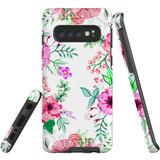 For Samsung Galaxy S10 Case Tough Protective Cover Floral Garden