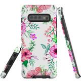 For Samsung Galaxy S10+ Plus Case Tough Protective Cover Floral Garden