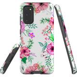 For Samsung Galaxy S20 Case Tough Protective Cover Floral Garden