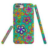 For iPhone 6S Plus & 6 Plus Case Tough Protective Cover Retro Floral