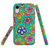 For iPhone 8 Plus & 7 Plus Case Tough Protective Cover Retro Floral
