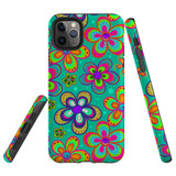 For iPhone 11 Pro Case Tough Protective Cover Retro Floral