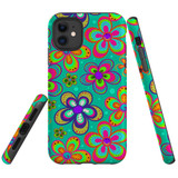 For iPhone 11 Case Tough Protective Cover Retro Floral