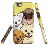 For iPhone 6 & 6S Case Tough Protective Cover Cute Puppies