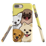 For iPhone 8 Plus & 7 Plus Case Tough Protective Cover Cute Puppies